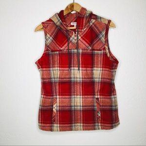 Pendleton Plaid Wool Hooded Vest